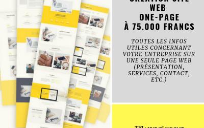 Le site onepage la formule qui s'adapte aux petits budgets.